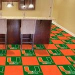University of Miami Collegiate Carpet Tile