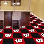 University of Wisoncisn Collegiate Carpet Tile