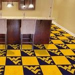West Virginia University Collegiate Carpet Tile